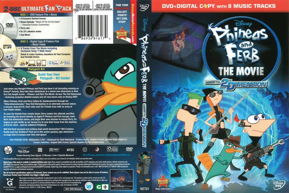 Phineas and Ferb the Movie: Across the 2nd Dimension (2011) [Multi Audio] Download [720p Blu-Ray]