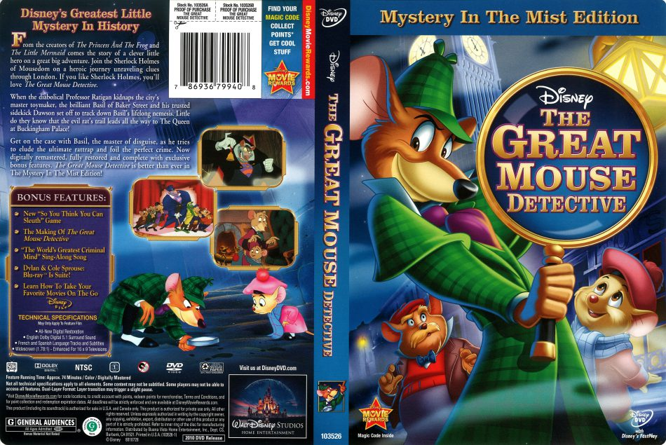 The Great Mouse Detective (1986) Hindi-English Dual Audio Download 480p, 720p & 1080p HD BluRay